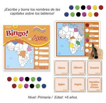 Bingo de Africa con 24 tableros