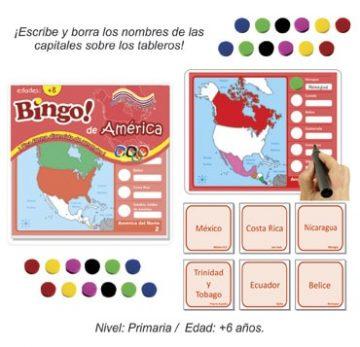 Bingo de America con 24 tableros