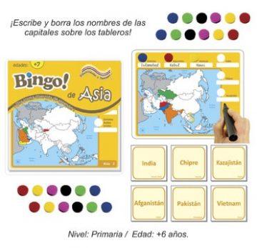 Bingo de Asia con 24 tableros
