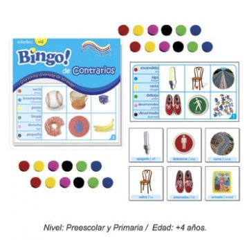 Bingo de Contrarios con 24 tableros