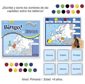 Bingo de Europa con 24 tableros