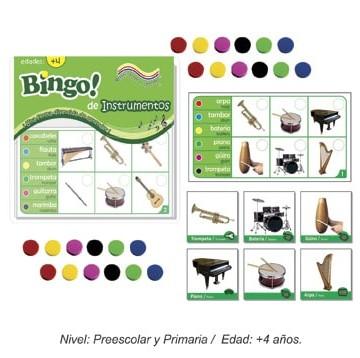 Bingo de instrumentos con 24 tableros