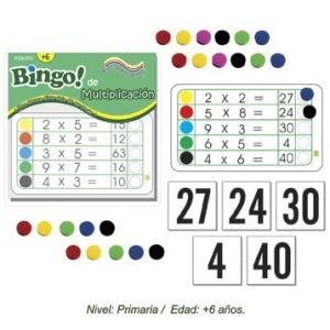 Bingo de la Multipicacion con 24 tableros