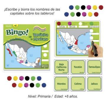 Bingo de la Republica Mexicana con 24 tableros