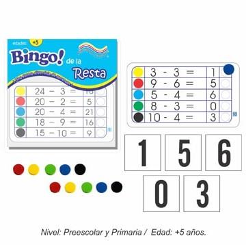 Bingo de la Resta