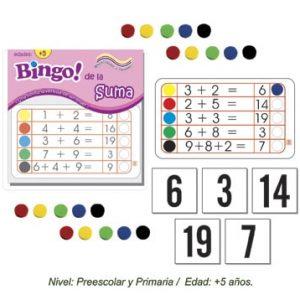 Bingo de la Suma con 24 tableros