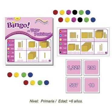 Bingo de Valor Posicional con 24 tableros