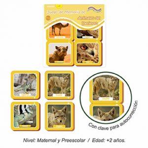 Juego de Memoria de Animales del Desierto