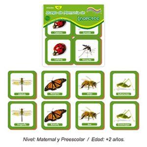 Juego de Memoria de Insectos