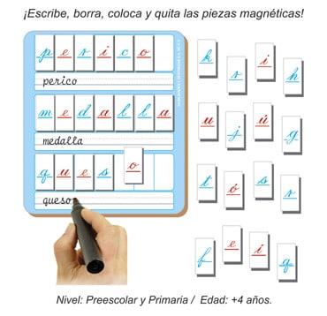 Mini Alfabetos Magnéticos Manuscrita