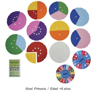 Módulo de Fracciones Circulares para Primaria en Movimiento