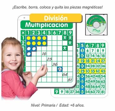 Paquete Dúo Pósters Interactivos de Multiplicación y División Magnético para Grupo