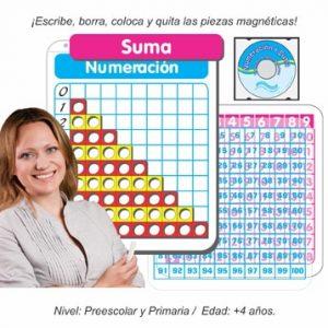 Paquete Dúo Pósters Interactivos de Numeración y Suma Magnético para Grupo
