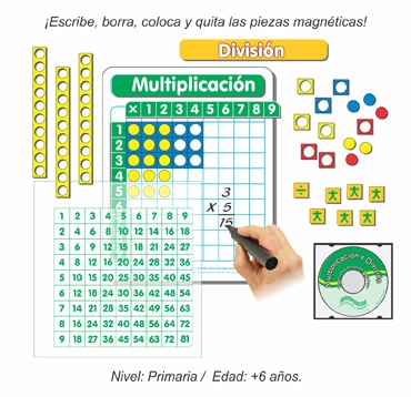 Paquete Dúo Tableros Individuales de Multiplicación y División Magnéticos