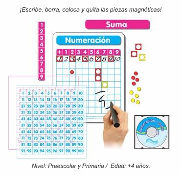 Paquete Dúo Tableros Individuales de Numeración y Suma Magnéticos