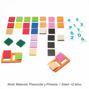 Piezas Adicionales de Texturas y Colores para Dominó de Formas