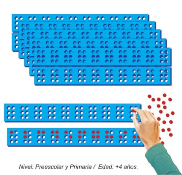 Regleta para Invidentes con 12 piezas