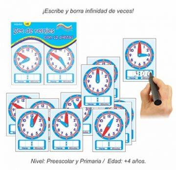Set de relojes con 12 piezas